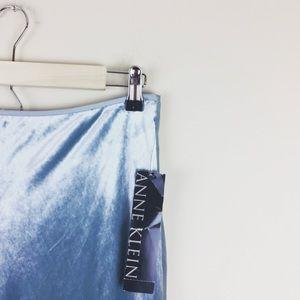 NWT Anne Klein Blue Velvet Dress